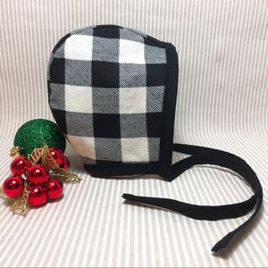 Other - Custom Reversible Plaid Flannel Bonnet. Never worn